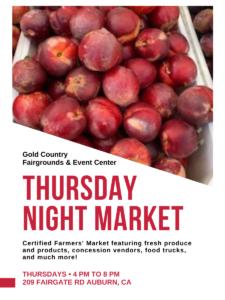 Gold Country Fair Thursday Night Farmer's Market